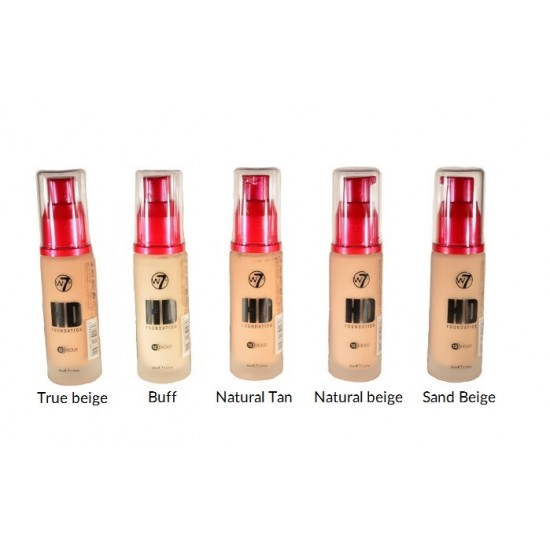 W7 - HD foundation - Natural Beige